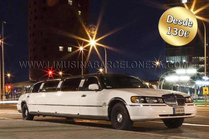 Limusina Lincoln Blanca | Limusina Barcelonesa | Alquiler de limusina en Barcelona